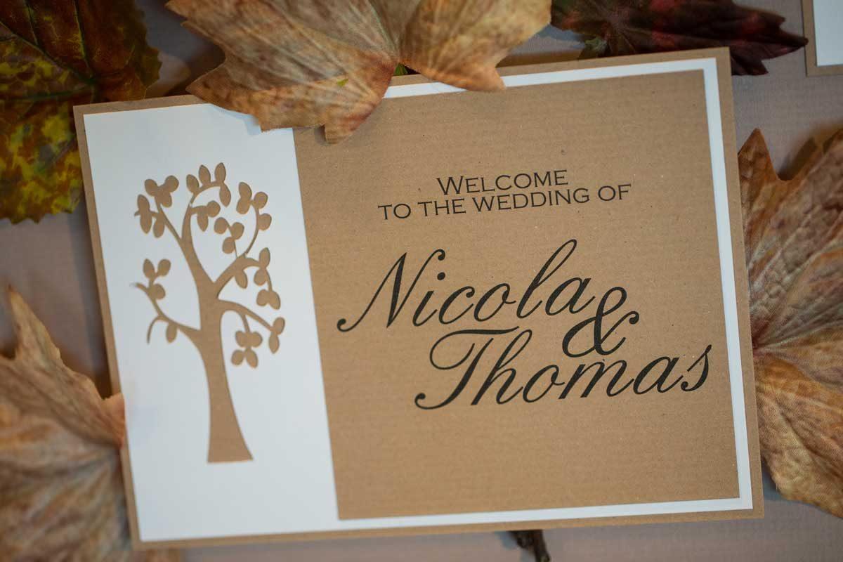 Handmade Wedding Stationery table plan card