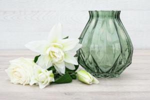 Coloured Glass Vase_Green_20cm