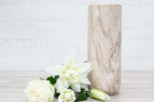 Marble Vase Speckled Gold 31.5cm