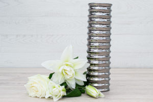 Mirrored Vase Silver 31cm