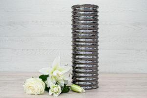 Mirrored Vase Silver 44cm